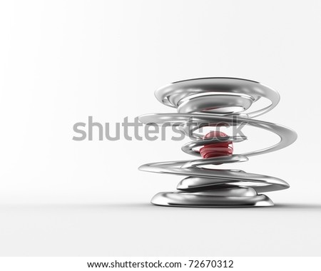 a 3d made abstract object - stock photo