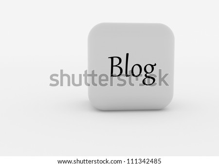 a 3d made cube with engraving - stock photo