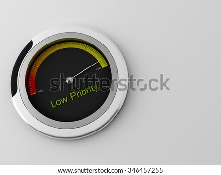 a 3d made indicator for detecting ranges between low and high - stock photo