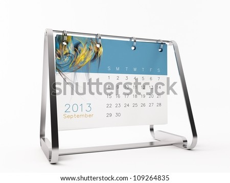 a 3d maded calendar for 2013 - stock photo