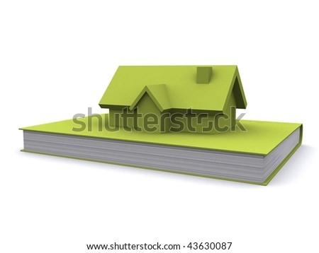 A 3d maded house on a white background - stock photo