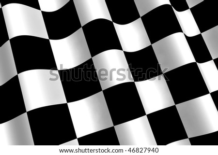 A 3d Rendered Chequered Flag Illustration