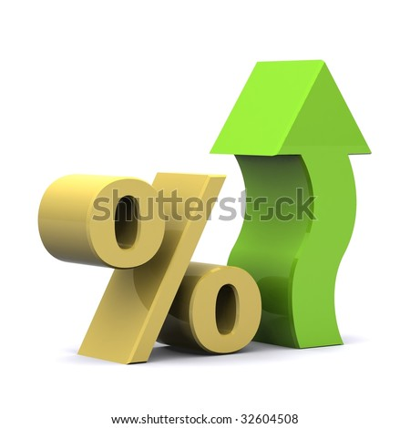 A 3d Rendered Illustration showing a Rise in Interest - stock photo