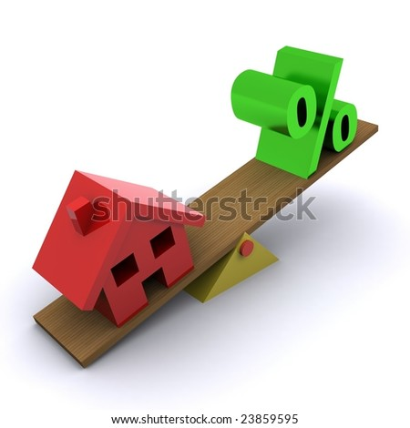 A 3d Rendered Image Portraying a Housing Market Slump - stock photo