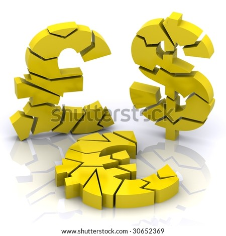 A 3d Rendered llustration Portraying the Credit Crunch - stock photo