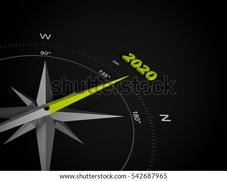 a 3d rendering maded compass on a white screen