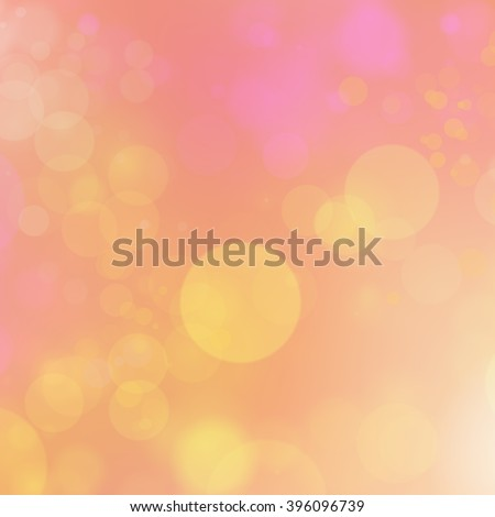 A 3d rendering of a pastel bokeh mainly in pink and yellow.  - stock photo