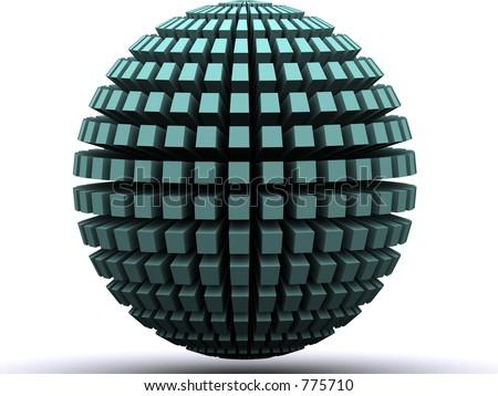 a 3d renders globe - stock photo