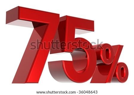 A 3d seventy-five percent concept - stock photo