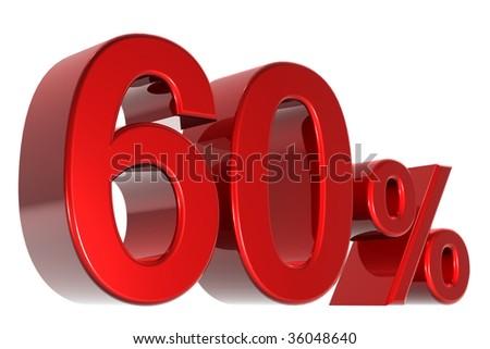 A 3d sixty percent concept - stock photo