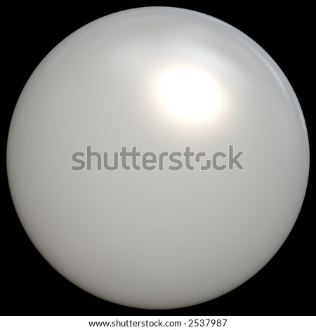 A 3d sphere - looks like a pearl to me, but can be a lot of other things as well. - stock photo