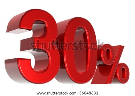 A 3d thirty percent concept - stock photo