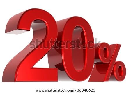 A 3d twenty percent concept - stock photo