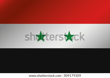 A 3D Wavy Flag Illustration of the country of  Syria - stock photo