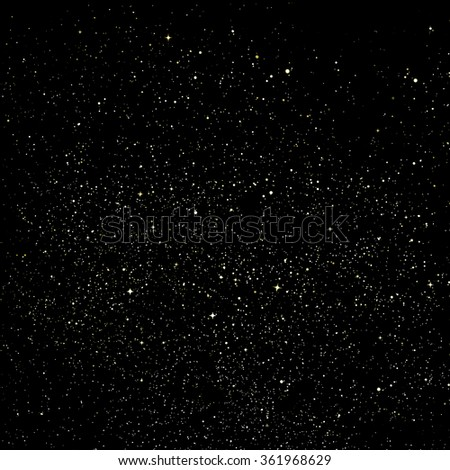 A dark night sky with plenty of stars - stock photo