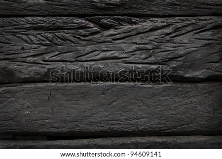A dark wood background - stock photo