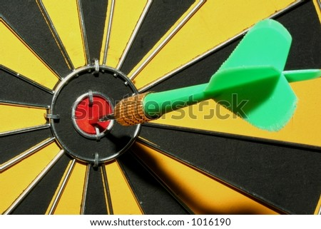 A dart in goal - stock photo