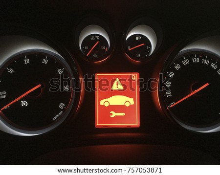 Dashboard Car Breakdown Alert Stock Photo Shutterstock - Car image sign of dashboardcar dashboard icons stock photospictures royalty free car