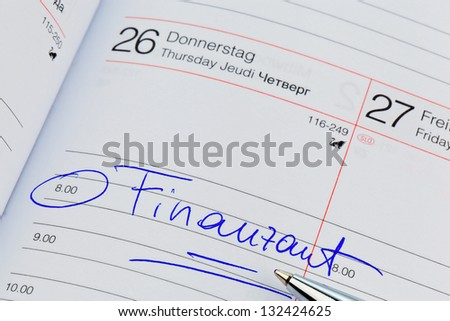 a date is entered in a calendar: tax office