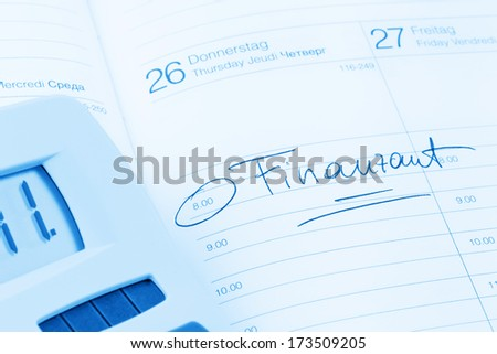 a date is entered on a calendar: finance office
