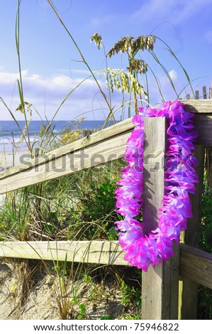 A day at the beach, perfect for cover art - stock photo