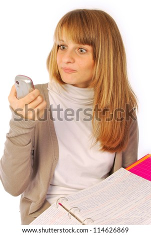 A day of daily life at school or in the office - 166 - stock photo