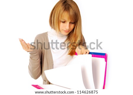 A day of daily life at school or in the office - 162 - stock photo