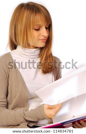 A day of daily life at school or in the office - 152 - stock photo