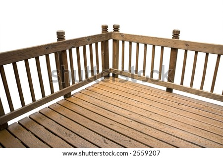 a deck isolated on a white background - stock photo
