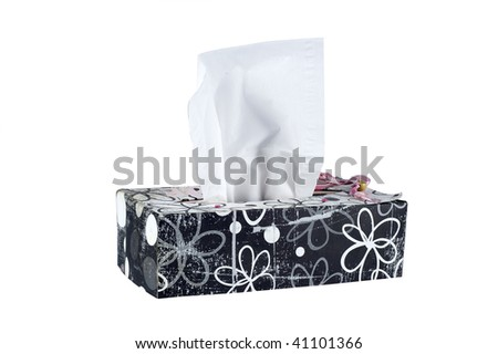 a decorated tissue box - stock photo