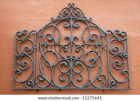 Wrought Iron Decorative Wall Pieces Simple Decorative Piece Wrought Iron Mounted Bright Stock Photo 15275641 Design Decoration