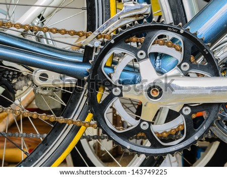 A Derailleur with Sprockets - stock photo
