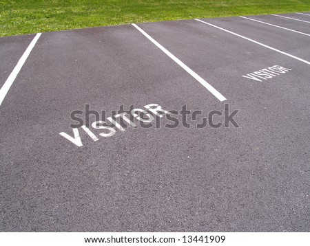 a designated parking area  for visitors - stock photo