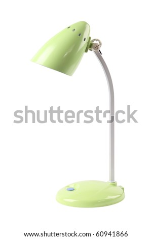 a desk lamp isolated on white
