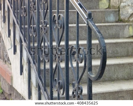 Curved steel stock images royalty free images vectors shutterstock for Curved metal railings exterior