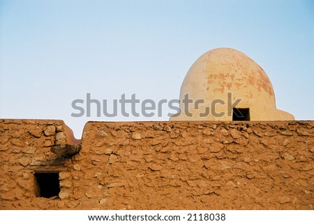 A detail of simple Bedouin architecture in Tunisia.