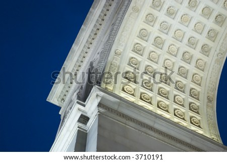 A detail of the arch in Washington Square Park, NYC - stock photo