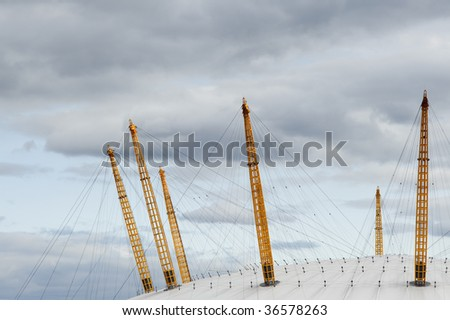 A detail of the Millennium Dome in London, England