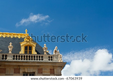 A detail of the Palace of Versailles, in summer 2010 - stock photo