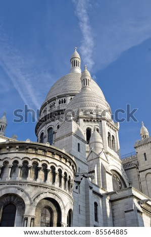 A detail of the Sacre-Coeur church, Montmartre, Paris