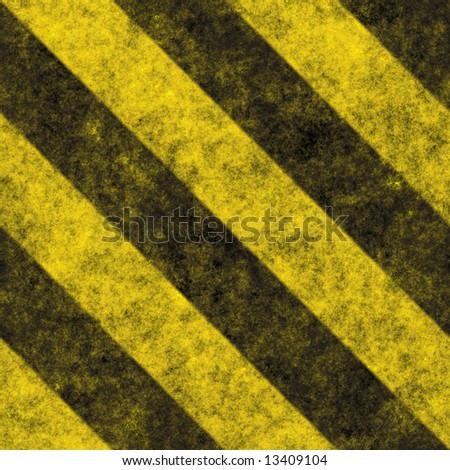 A diagonal hazard stripes texture.  These are weathered, worn and grunge-looking.  This tiles seamlessly as a pattern - fully tileable in any direction. - stock photo