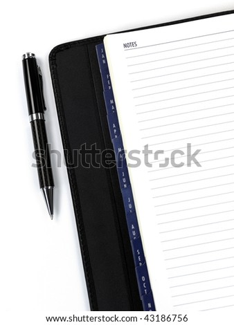 A 2010 Diary isolated against a white background
