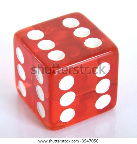 A dice - all sixes - stock photo