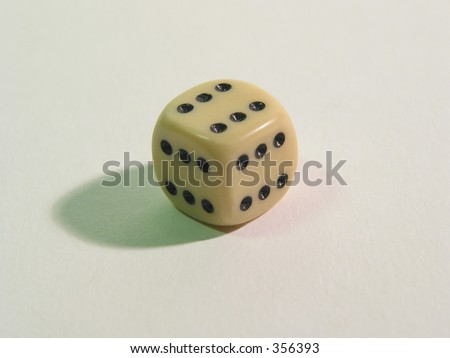A dice everybody in Las vegas would dream of :-) - stock photo