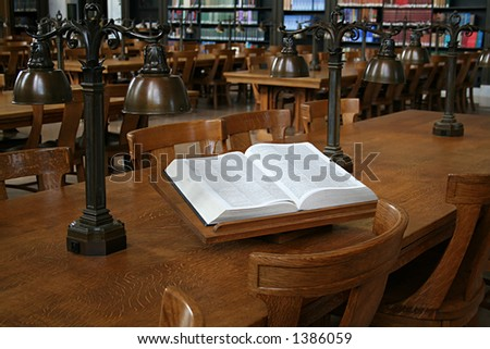 A dictionary in an old library - stock photo