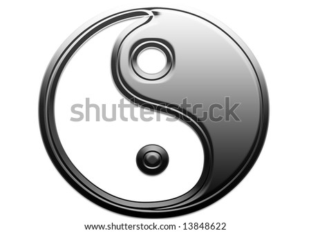 A different way to look at  Yin Yang Sign, - stock photo