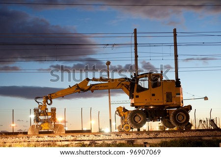 a digger for railway work