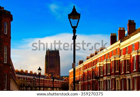 Georgian house stock photos images pictures shutterstock for Exterior house painting liverpool