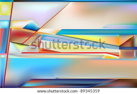 a digitally-generated abstract image - stock photo