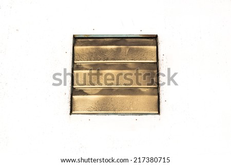 A dirty ventilators on the white background - stock photo